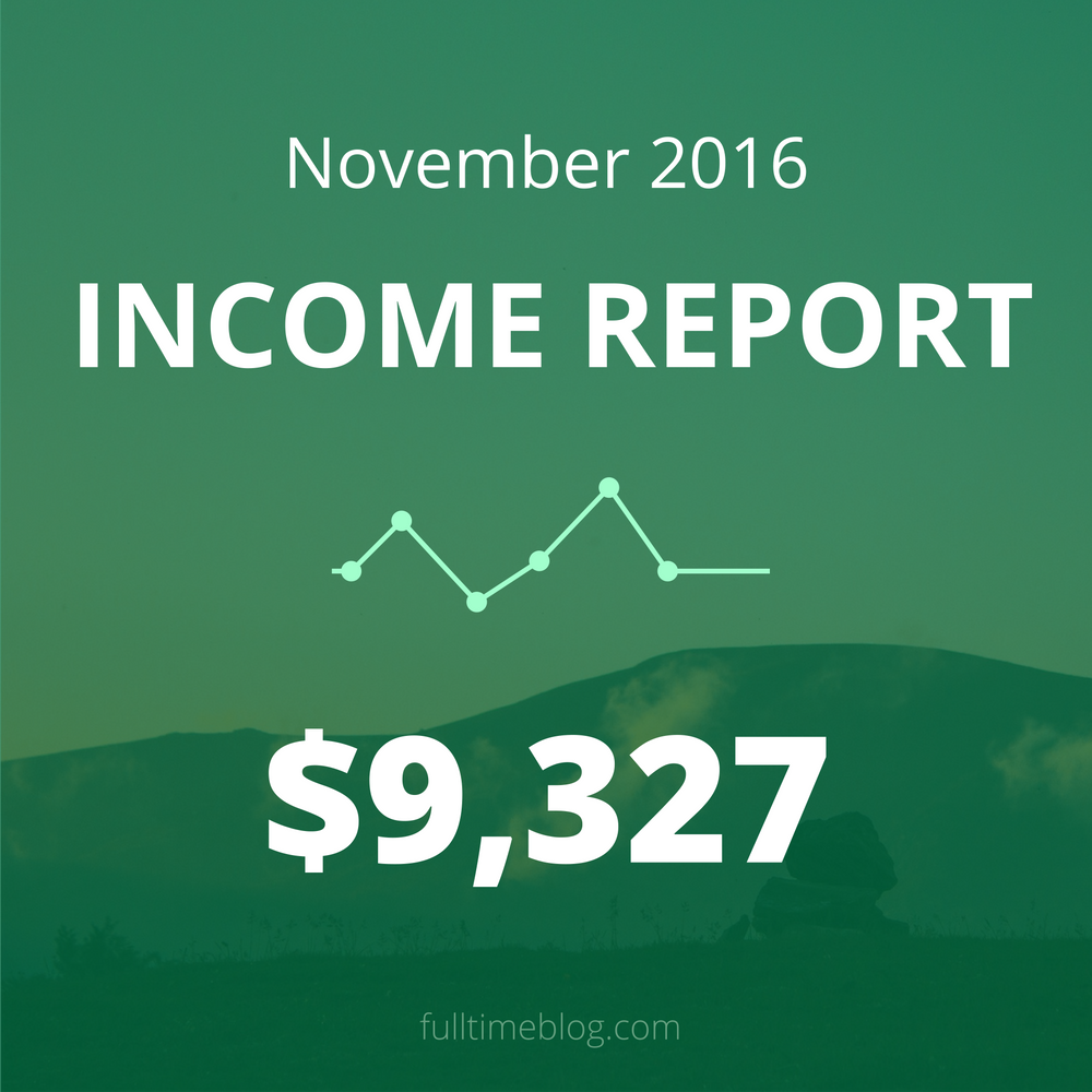 Blogging Income Report: November 2016