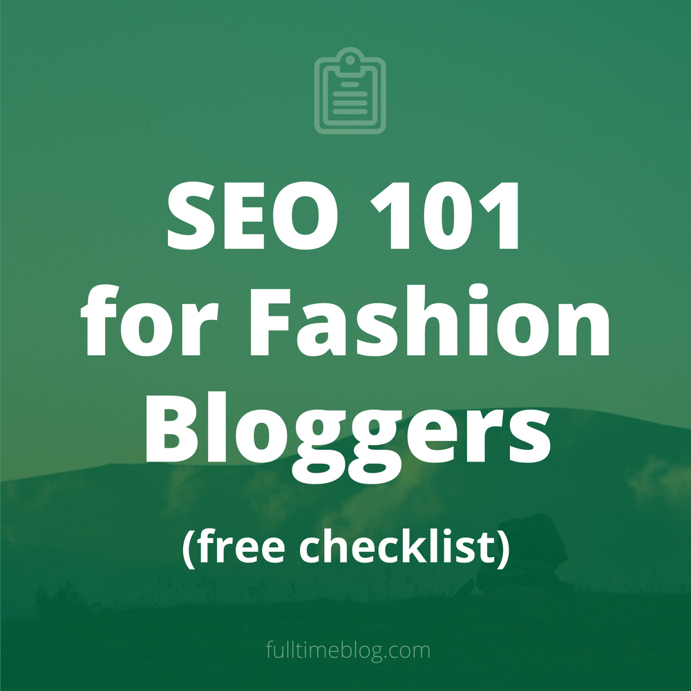 Fashion blog SEO