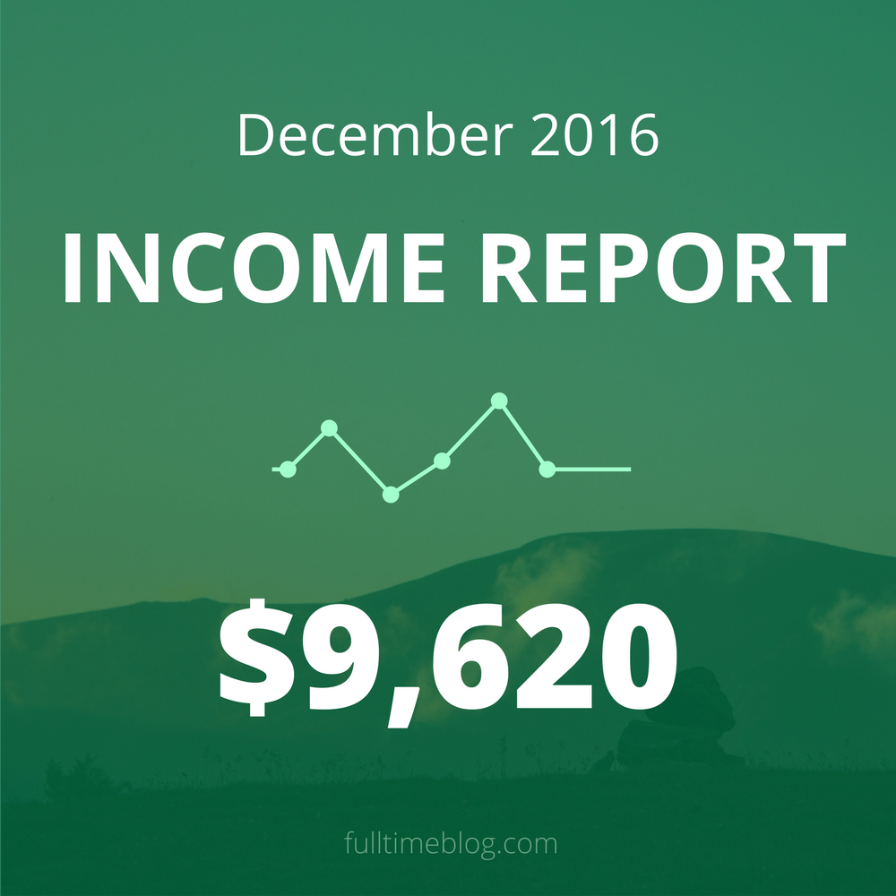 Blogging Income Report: December 2016