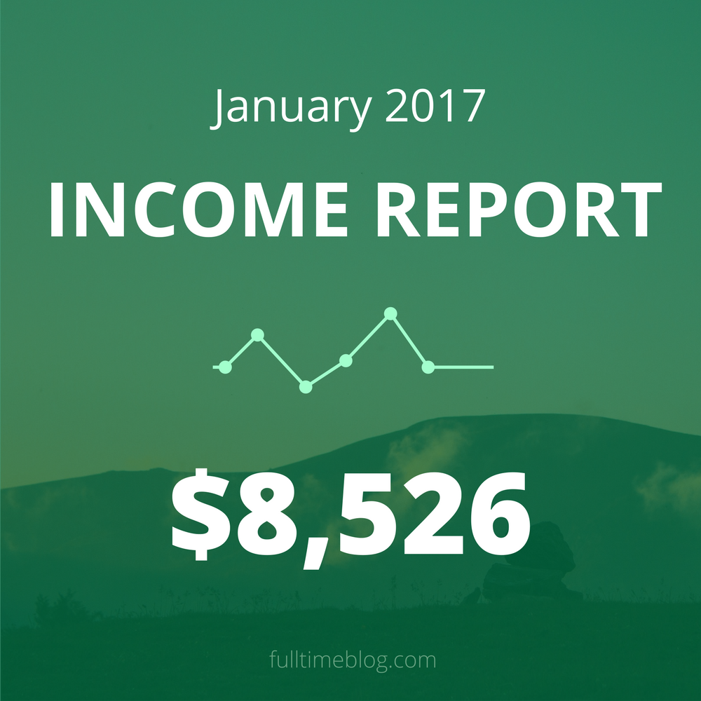 Blogging Income Report: January 2017