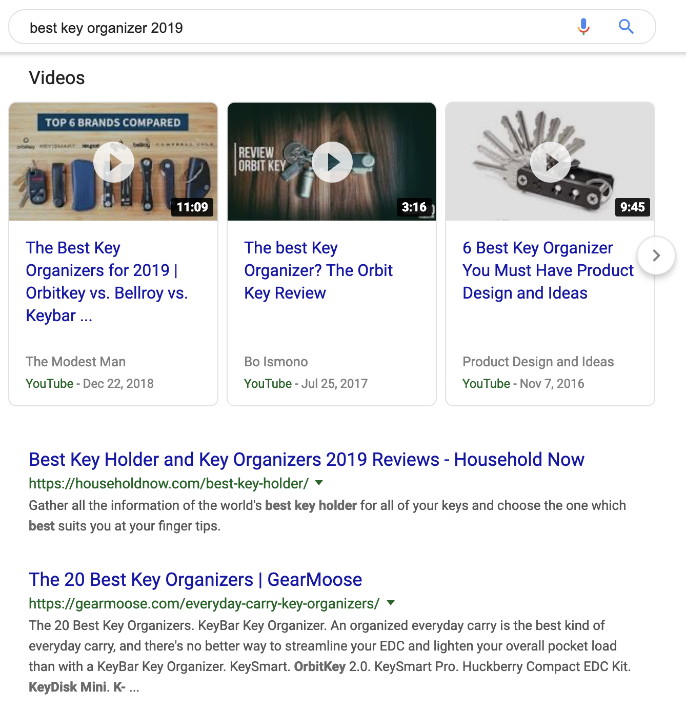 Best key organizer search results