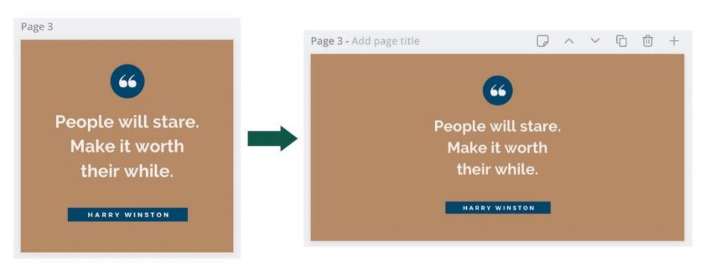 Canva magic resize example