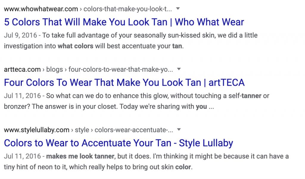 Non fresh search results