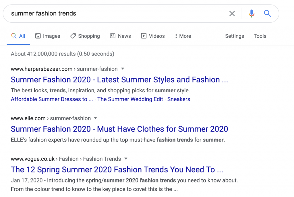 Summer fashion trends Google search